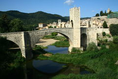 Besalu bridge. In east Spain Stock Photo