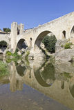 Besalu bridge landmark Stock Photography