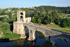 Besalu bridge Royalty Free Stock Photos
