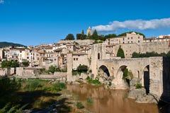 Besalu in Catalonië Royalty-vrije Stock Foto's