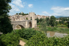 Besalu in Catalonia Spain royalty free stock images