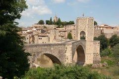 Besalu Cataonia西班牙桥梁  库存图片