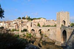 Besalu, città medioevale in Catalogna Spagna fotografia stock