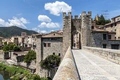 Besalu, Girona Spain Stock Image