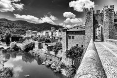 Besalu, Girona Spain Stock Photos