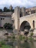 Besalu, Girona (Spanje) Stock Foto's