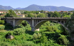Besalu landscape,Spain Royalty Free Stock Photo