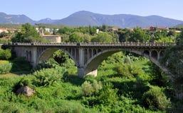 Besalu Landschaft, Spanien Lizenzfreies Stockfoto