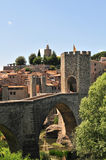 Besalu Medieval bridge Royalty Free Stock Photo