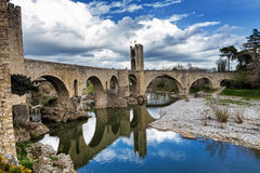 Besalu, medieval village Stock Photo