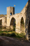 Besalu Most Obrazy Royalty Free
