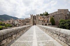 Besalu średniowieczny miasteczko Fotografia Royalty Free