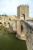Besalu Spain, a Catalan village Royalty Free Stock Photography