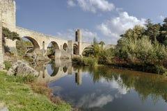 Besalu Spain, a Catalan village Royalty Free Stock Photos