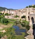 Besalu, Spanien Lizenzfreies Stockbild