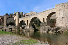 Besalu, Spanien Stockfotos