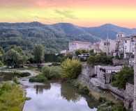 Besalu village Stock Photo