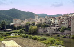 Besalu village Royalty Free Stock Photo