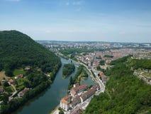 Besançon dat van het wordt gezien is Citadel Royalty-vrije Stock Afbeelding