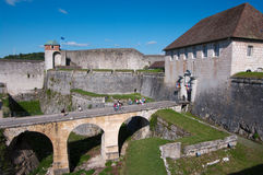 Besançon-Festung stockbilder