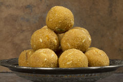 Besan Laddu Sweet Food Stock Image