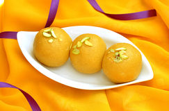 Besan Ladoo Royalty Free Stock Images