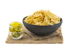 Besan Papri. Indian traditional street food Besan Papri of fafra royalty free stock photography