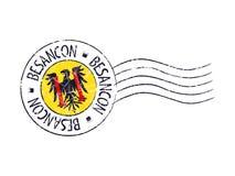 Besancon city grunge postal rubber stamp Royalty Free Stock Photos