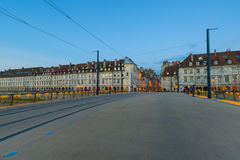 Besancon in the evening Stock Photo