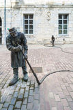 BESANCON/FRANCE - 9月13日:L ` arroseur Arrosé的看法 库存照片