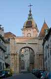 Besancon,France. The Porte Noire, roman Triumphal arch in town Belfort, France Royalty Free Stock Photography