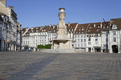 Besancon main place Royalty Free Stock Image