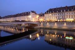 Besancon at night, France royalty free stock photo