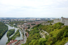 Besancon seen from the Citadel Stock Photo