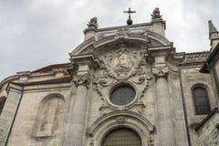 BESANCONS, FRANCE/EUROPE - 13 SEPTEMBRE : Cathédrale de St Jean dedans photos libres de droits