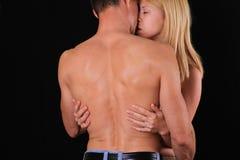 besar pares Amor, sexo, pasión, Foreplay, relación, concepto de la dulzura Fotos de archivo libres de regalías