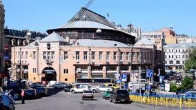 Besarabsky Market in Kiev, Ukraine, stock footage