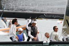 Besatzung von stravaganza das Trofeo Gorla 2012 gewinnend Stockfotografie
