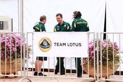 Besatzungen des Team-Lotos-F1 lizenzfreies stockfoto