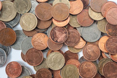 Besazo del efectivo de la cuenta de la moneda Imagenes de archivo