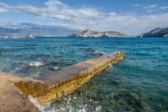 Bescanuova krajobraz Wyspa Krk Chorwacja Zdjęcie Royalty Free