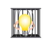 Beschädigen Sie den Käfig für Freiheitsidee vektor abbildung
