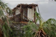 Beschädigt durch Hurrikanhaus in Los Cabos lizenzfreies stockfoto