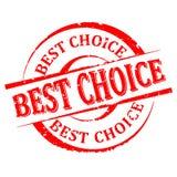 Beschädigt ringsum roten Stempel mit dem Wort - beste Wahl - Vektor stockbild