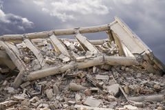 Beschädigtes Gebäude Stockfotografie