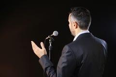 Beschäftigen die Furcht vor dem öffentlichen Sprechen Stockfotografie