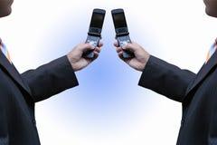 Beschäftigen Mobiltelefone stockbilder