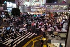 Beschäftigte Überfahrt Shibuya Stockbild