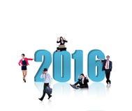 Beschäftigte Arbeitskräfte mit Nr. 2016 Lizenzfreies Stockbild
