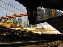 Beschäftigte Flinders-Straßen-Station Lizenzfreies Stockbild